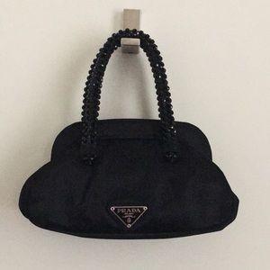 Authentic Prada Evening Black Satin Bag